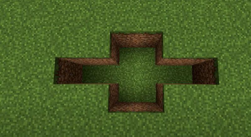 Beginning hole (Image via YouTube)