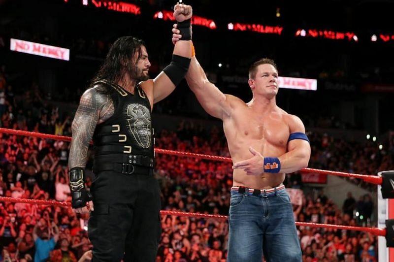 John Cena with Roman Reigns