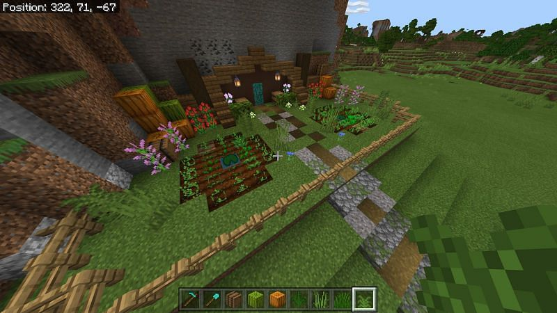 Path to hobbit hole Minecraft