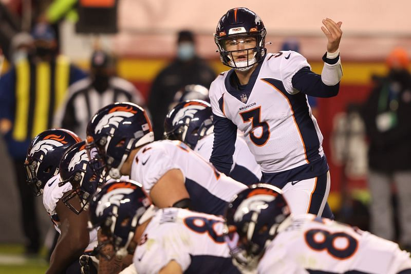 Drew Lock with the Denver Broncos