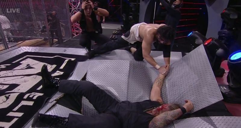 Chris Jericho admits he was very nervous about taking the bump off the cage on AEW Dynamite.