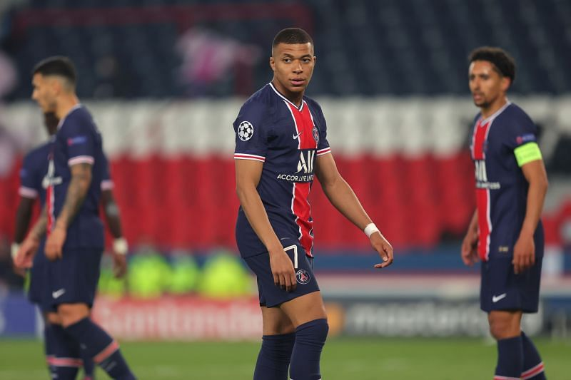 Kylian Mbappe might not feature against Manchester City