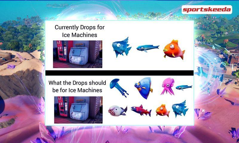 Fortnite Fan theory suggests an increased loot from Ice Machine (Image via Sportskeeda)