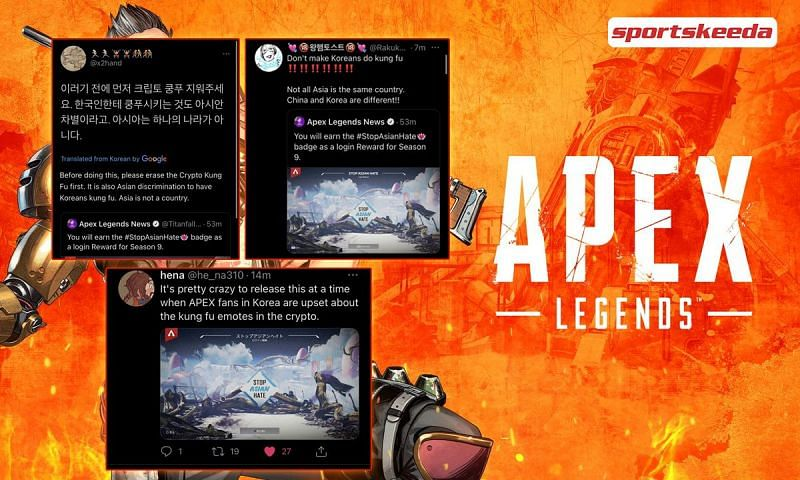 Players enraged by ignorance towards issues offending the Apex Legends Asian community (Image via Sportskeeda)