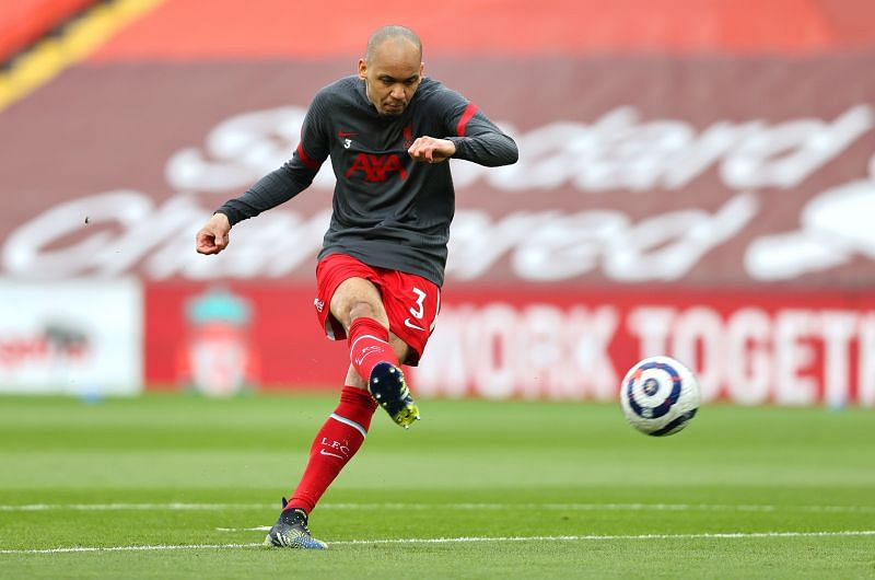 Fabinho will likely lineup at centre-back again for Liverpool against Manchester United