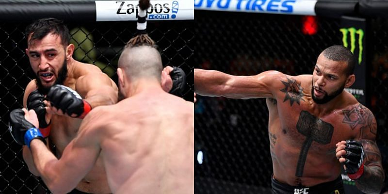 Dominick Reyes (left) and Thiago Santos (right)