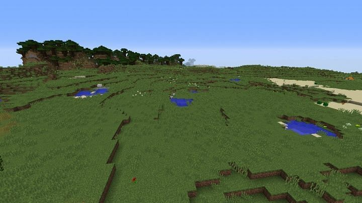 Grasslands was one of the first biomes added to Minecraft (Image via Minecraftvillageseed)