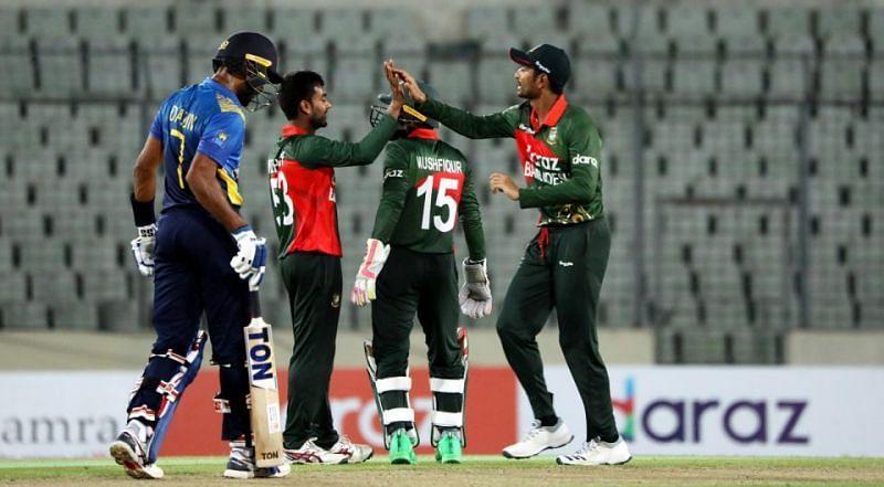 Bangladesh vs Sri Lanka 1st ODI. Pic: SLC/ Twitter