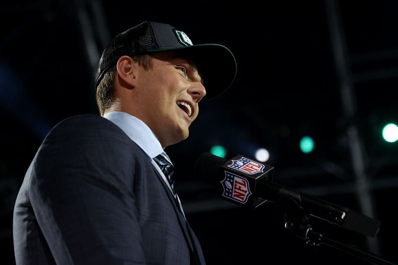 Zach Wilson after being drafted by the NEw York Jets at the 2021 NFL Draft