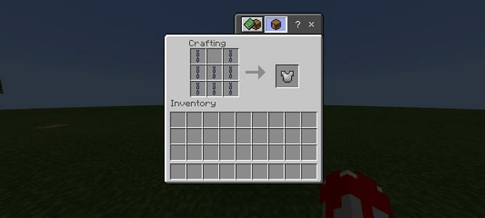 Future possibility to craft chainmail armor (Image via mcpedl)