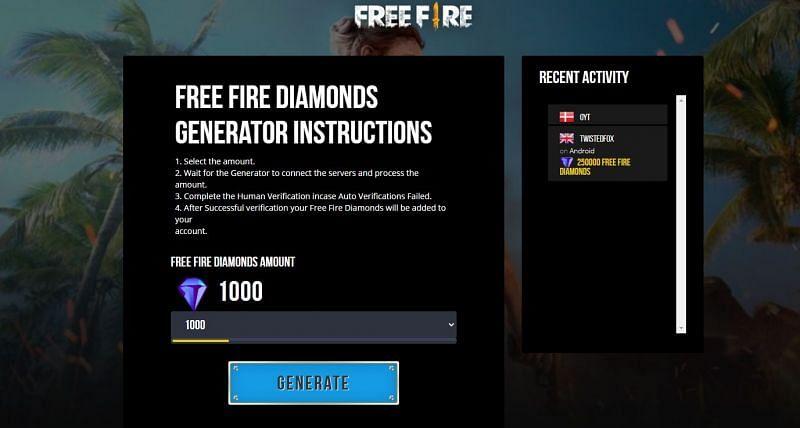 Players must not use diamond generators