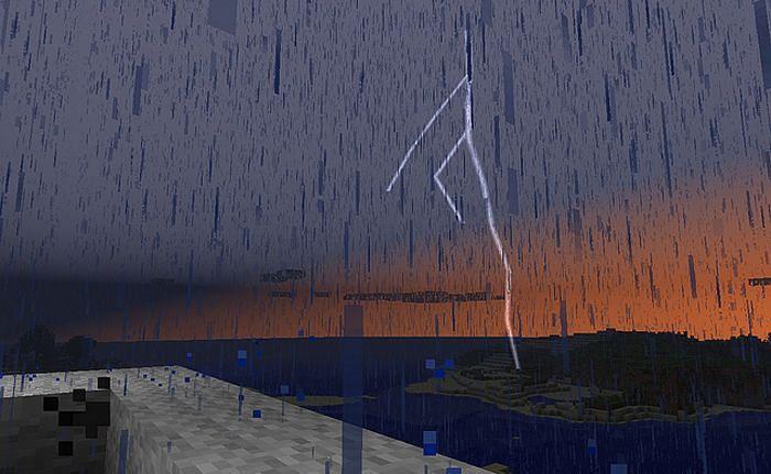 Thunderstorm mod (Image via mcpedl)