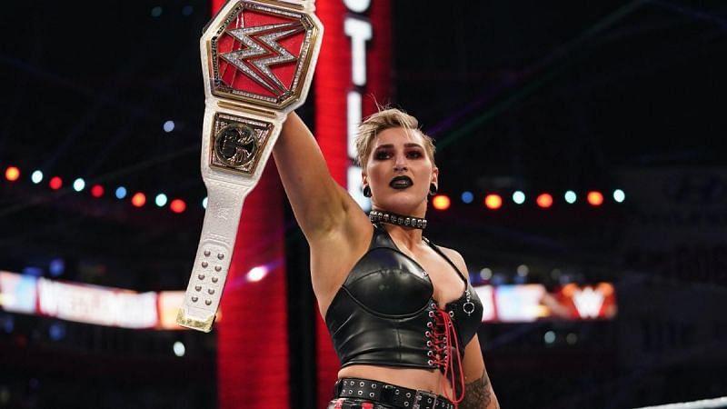 Who will Rhea Ripley defend the RAW Women