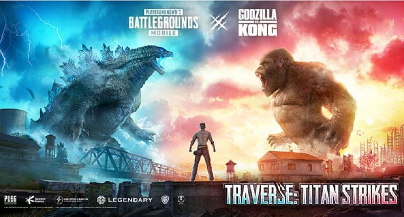 PUBG Mobile 1.4 update is set to bring Godzilla vs Kong themed content (Image via PUBG Mobile)