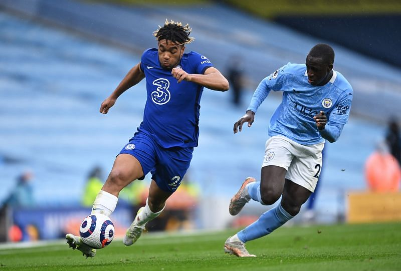 Reece James in action vs. Manchester City.