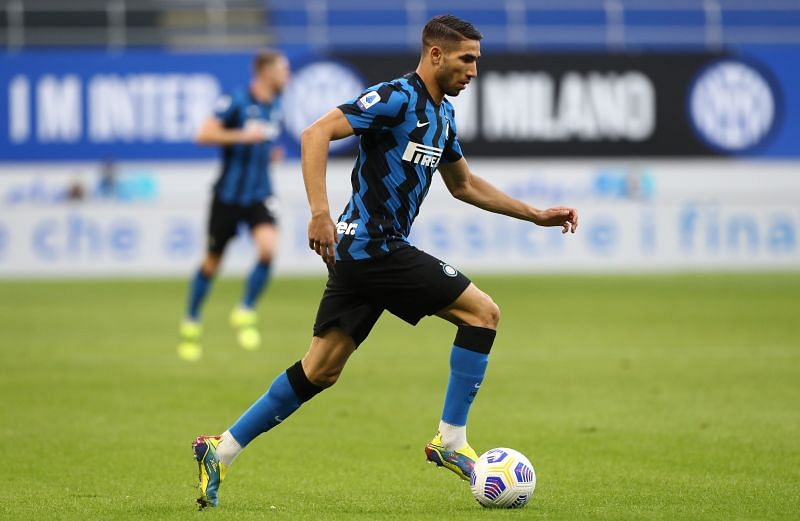Inter Milan full back Achraf Hakimi. (Photo by Marco Luzzani/Getty Images)