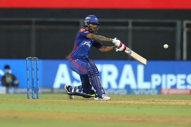 Shikhar Dhawan in action during the IPL 2021 (Credits: news18.com)