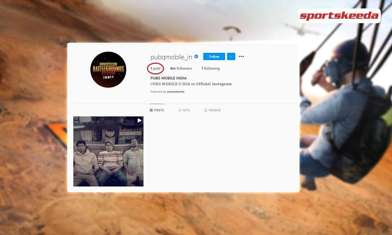 All posts on the official Instagram handle except one have been deleted. Image via Sportskeeda.