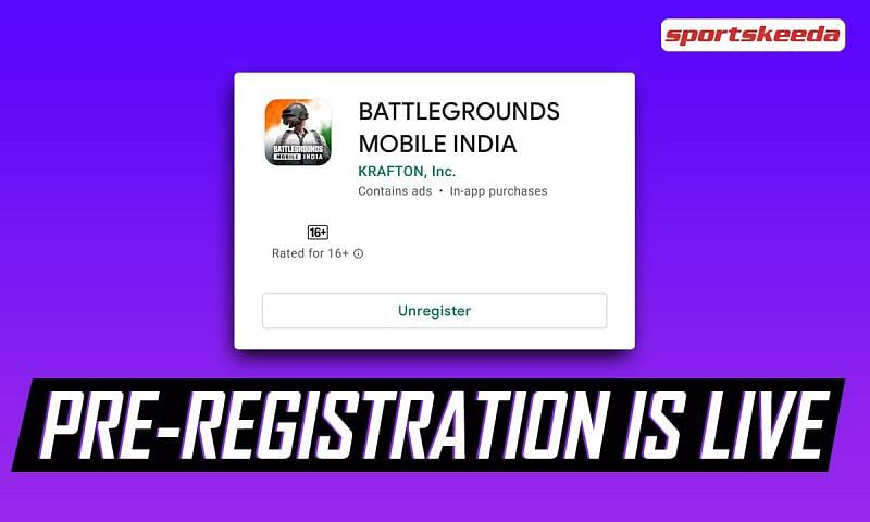 The Battlegrounds Mobile India pre-registration phase is currently live