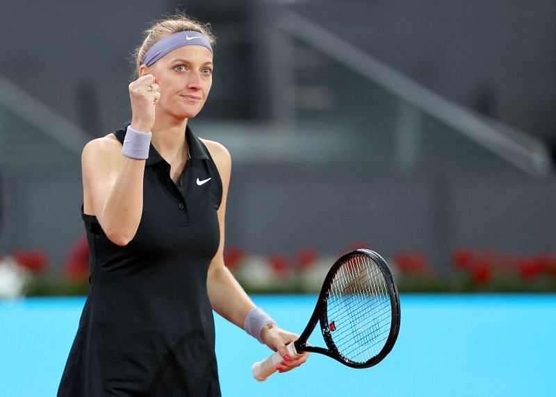 Petra Kvitova enjoys playing in the slightly quicker conditions at Madrid