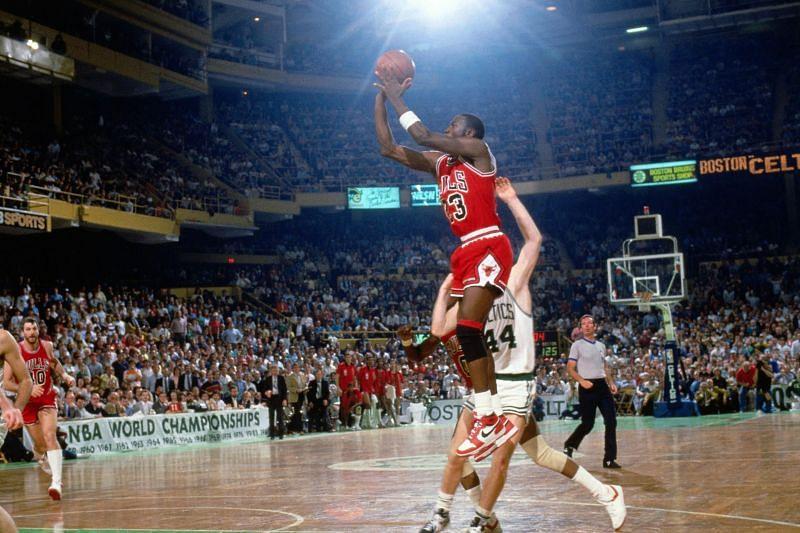Michael Jordan against the Boston Celtics