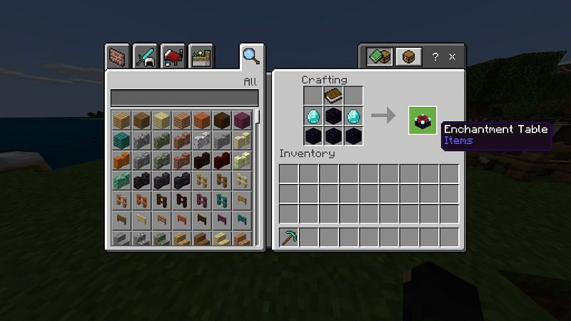 Enchanting in Minecraft using Enchantment Table