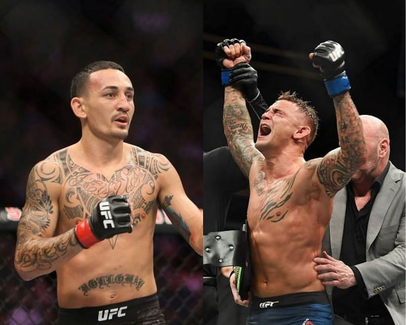 Max Holloway (left) and Dustin Poirier (right)