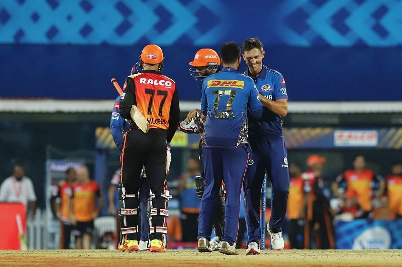 The Sunrisers Hyderabad will lock horns with the Mumbai Indians in their eighth match of IPL 2021. (Image Courtesy: IPLT20.com)