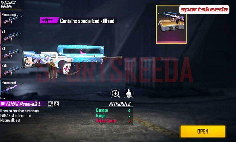 A new redeem code for Famas Moonwalk loot crate has been released