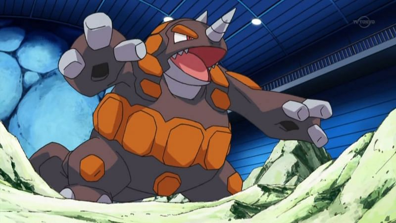 Rhyperior in the anime (Image via The Pokemon Company)