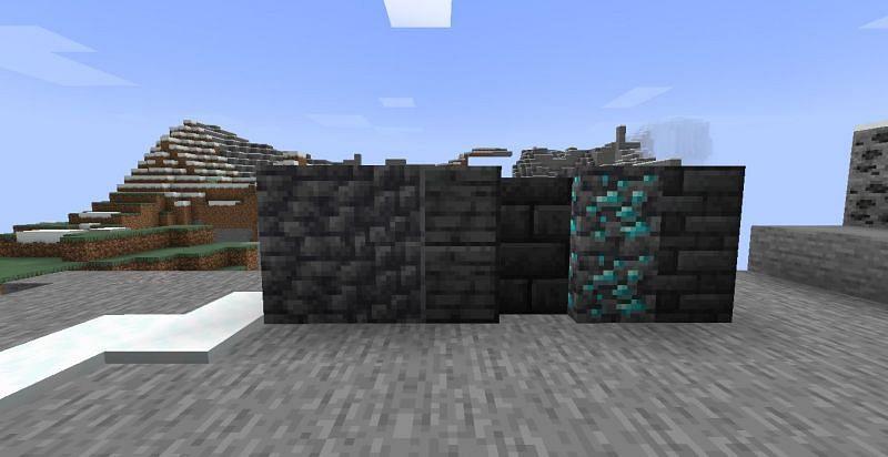 Deepslate blocks (Image via Minecraft)