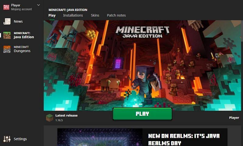 Apri il Minecraft Launcher (Immagine tramite Minecraft Wiki)