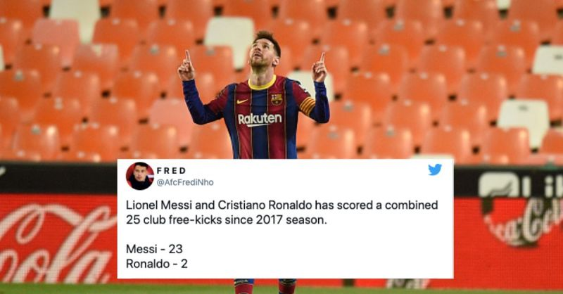 Lionel Mess inspired Barcelona to a stunning 3-2 victory over Valencia