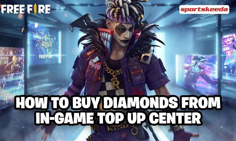 Free Fire diamonds can be purchased from the in-game top-up center as well as various top-up websites (Image via Sportskeeda)