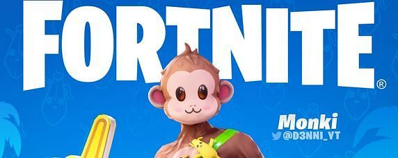 Fortnite Loopers Are Going BANANAS For D3NNI's Latest Concept, Monki {Image via D3NNI on Twitter}