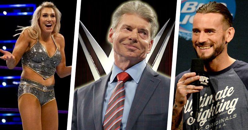 Charlotte Flair, Vince McMahon and CM Punk