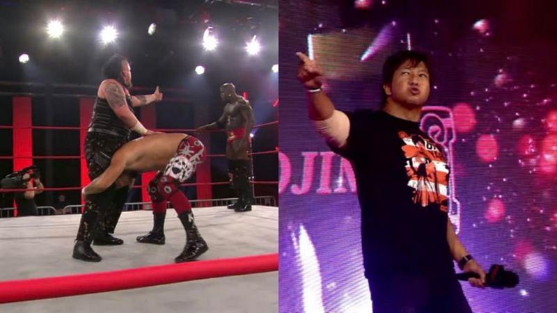 Satoshi Kojima calls his shot; Moose and Sami Callihan struggle to work together
