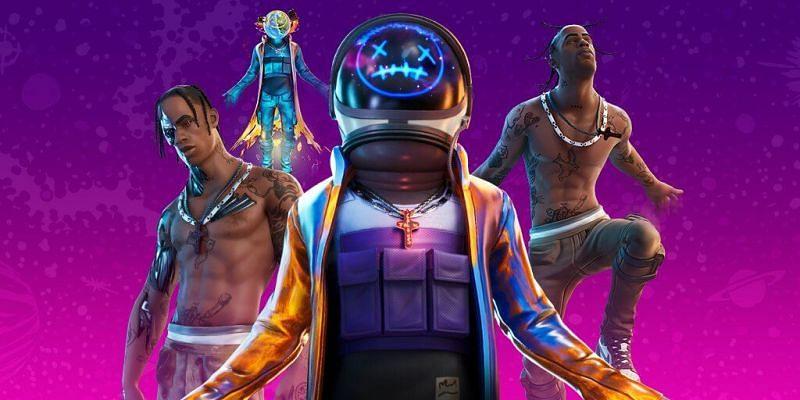 Travis Scott Skins (Image via Epic Games)