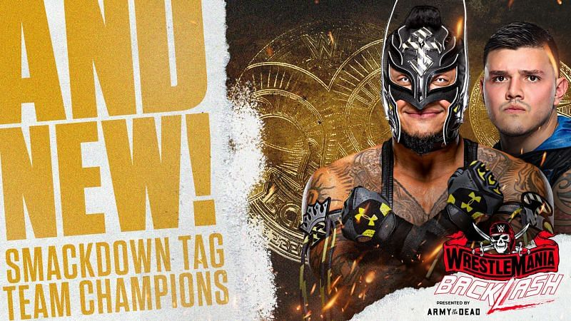 Rey and Dominik Mysterio become the first-ever father and son tag team champions in WWE