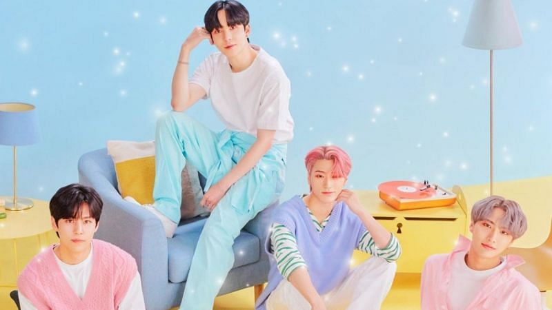 "Sparkling, the fictional boy K-Pop group in ""Imitation"" (Image via KBS)"