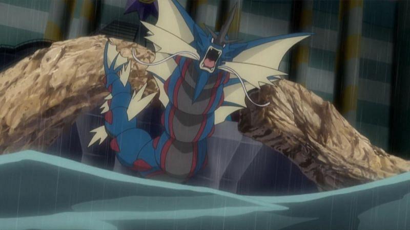 Mega Gyarados in the anime (Image via The Pokemon Company)