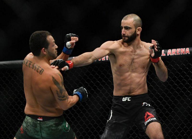 Giga Chikadze (right) wants to fight at UFC Vegas 26