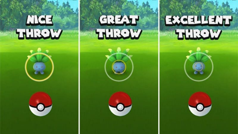 It is possible to manipulate the size of the circle by holding the Pokeball before throwing it (Image via Niantic)