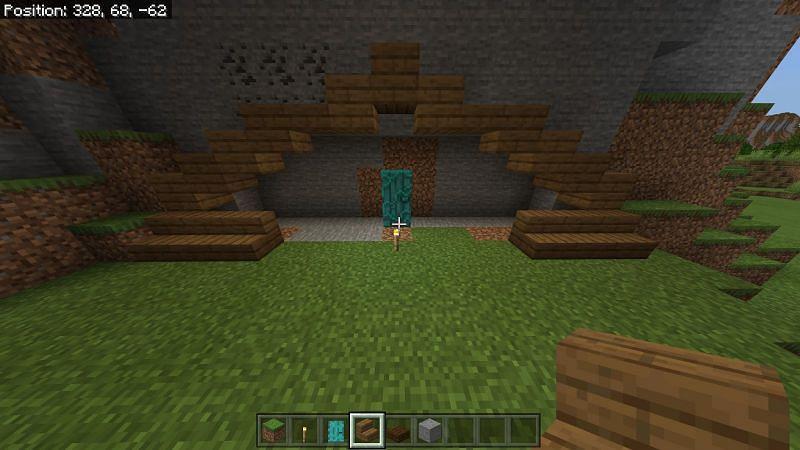 Building hobbit hole Minecraft