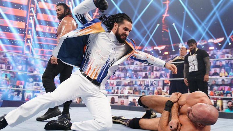Jey Uso and Roman Reigns allowed Seth Rollins to attack Cesaro