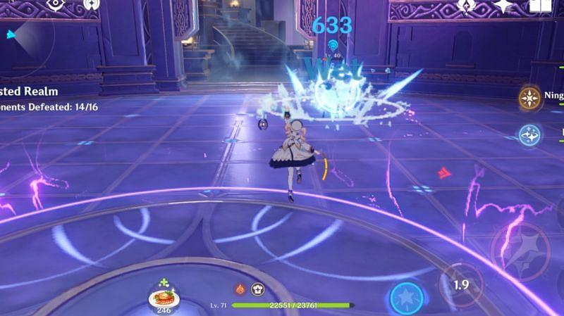 Barbara can easily break Pyro shield in Genshin Impact
