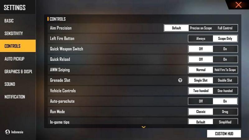 The settings UI has been overhauled (Image via ALPHA FREEFIRE / YouTube)