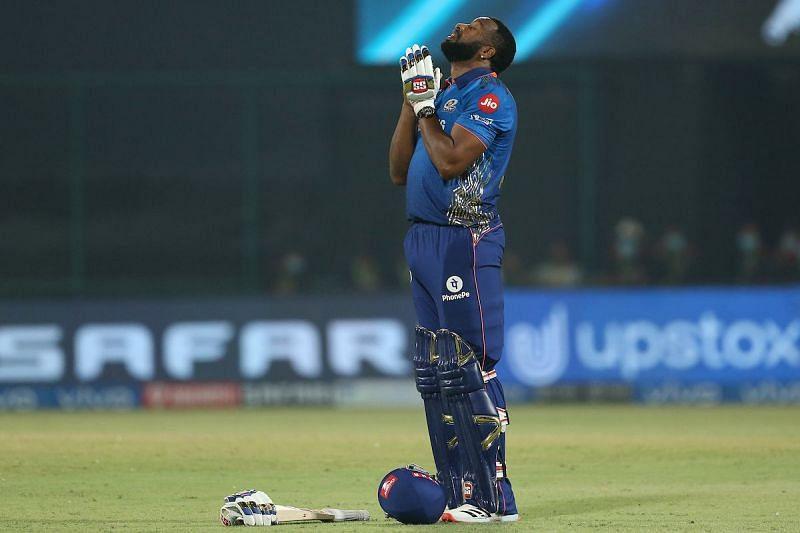 Kieron Pollard smashed his highest IPL score to take MI home tonight [Credits: IPL]