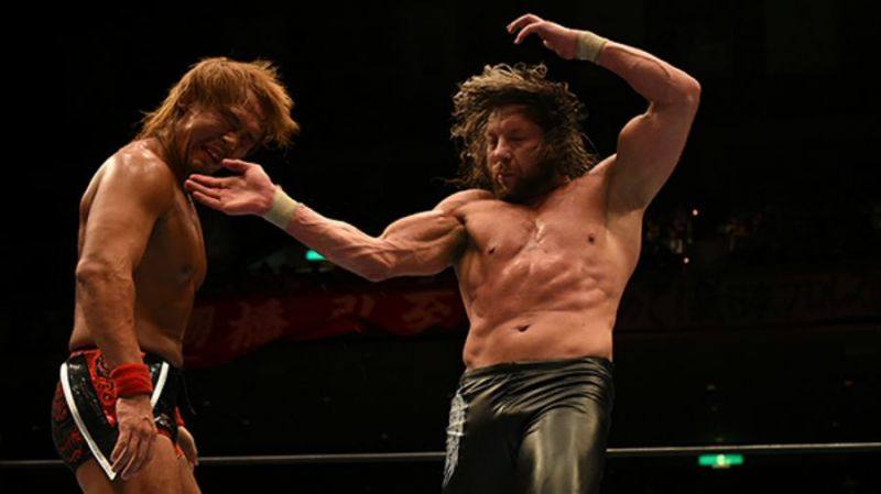 Tetsuya Naito and Kenny Omega during their G1 27 match