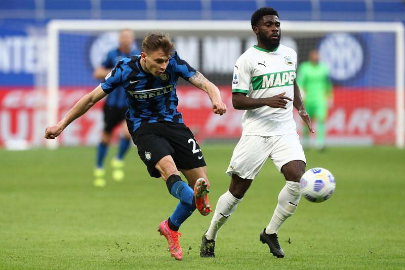 Nicolo Barella scored three goals in 35 appearances for Inter Milan this season